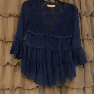 Ladies a'reve royal blue top